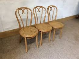 Bentwood Bistro Chair Set Of 3 Vintage Thonet Style Bentwood Cafe Bistro Chairs Ebay