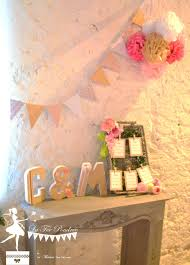 guirlande fanion mariage plan de table pompon guirlande fanion lettres prenom decorees