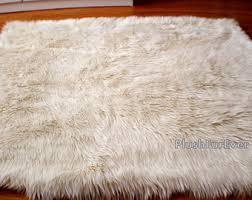 long shag rug gray silver shaggy luxury faux fur area rug flokati rectangle
