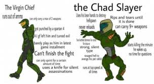 Doom Guy Meme - doomguy would absolutely wipe the floor with master chief master