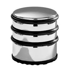 Door Stops Premier Housewares Chrome Door Stop With Black Rubber Protective