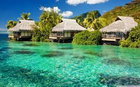 overwater bungalows hd desktop wallpaper widescreen high