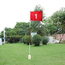 amazon com practice golf putting green flags with cup backyard