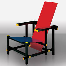 red and blue chair
