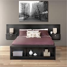 Platform Bed With Floating Nightstands Platform Bed Bedside Tables Home Decor Master Bedroom