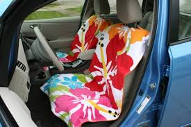 Rug Doctor On Car Seats Sew Together Two Towels To Create A Beach Towel Cover For Your Car