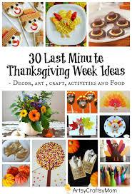 30 last minute thanksgiving week ideas artsy craftsy