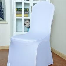 white spandex chair covers free ship 100 pcs stretch elastic universal white spandex wedding