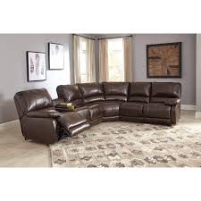 power reclining sectional with massage heat and cup holder