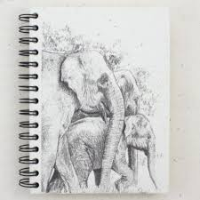 mr ellie pooh elephant sketch large notebook journal u2013 zee bee