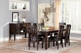 signature design by ashley haddigan dark brown 8 piece dining room