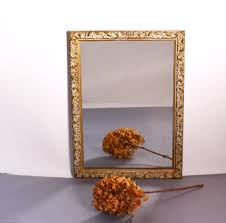 Metal Framed Bathroom Mirrors by Vintage Bathroom Mirror Silver And Copper Backed Mirror