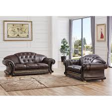 luca home 2 piece split leather living room set products