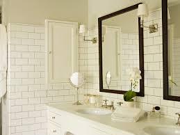 bathroom bathroom lighting mirror double sinks gray grout