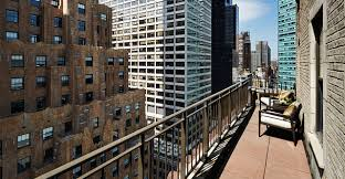 luxury suite nyc hotel with terrace the benjamin