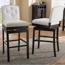 White Faux Leather Chair Baxton Studio Ginaro White Faux Leather Upholstered 2 Piece Bar