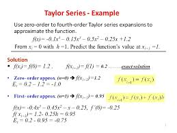truncation errors and series ppt