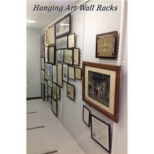 wall mounted art rack wire mesh display panels hanging artwork