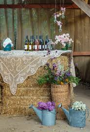 Backyard Country Wedding Ideas Hay Bale Lace And Wildflower Outdoor Country Wedding Decor Ideas
