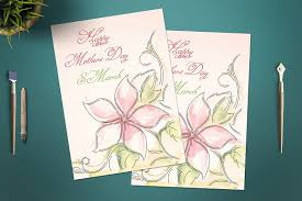 mother u0027s day card template card templates creative market