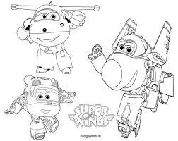 super wings coloring pages kids printable
