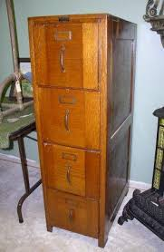 Oak File Cabinet 4 Drawer Antique Wood File Cabinet Roselawnlutheran