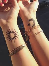 collection of 25 moon wrist tattoos