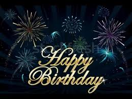 happy birthday greeting card with music and fireworks youtube