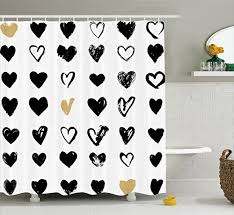 Heart Bathroom Accessories Heart Curtains Amazon Com