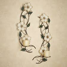 decorative flower floral wall sconce crafthubs floral metal wall sconces metal