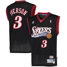 nba throwback jerseys nba vintage uniforms retro jerseys fansedge adidas allen iverson philadelphia 76ers black hardwood classics swingman jersey