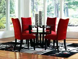 surprising red velvet dining room chairs pictures best