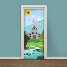 princess wallpaper etsy kids door sticker customizable vinyl wallpaper adhesive decal princess castle room with your girl name