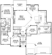 Floor Plans With 3 Car Garage 3 Car Garage Floor Plans With Master A To Inspiration