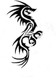 black and white dragon tattoos free download clip art free