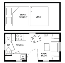 the studio400 plan is a single room modern guest house plan with a houseplans cottage floor plan plan 896 1 sleeping loft