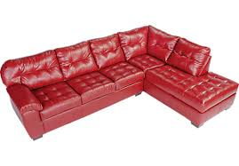 red leather sectional sofa with chaise drk architects