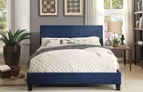 King Upholstered Platform Bed Homelegance Brice Blue King Upholstered Platform Bed Brice
