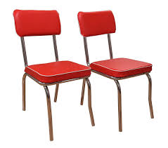 Red Faux Leather Dining Chairs Amazon Com Target Marketing Systems Set Of 2 Retro Upholstered