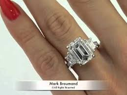 emerald cut engagement rings 2 carat 7 18ct emerald cut engagement anniversary ring