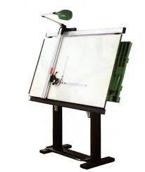 Drafting Table Blueprints Interior Design Professional Drawing Table Technical Drawing