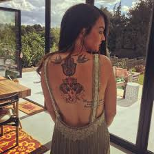 eastenders star lacey turner shows off amazing back tattoos of an