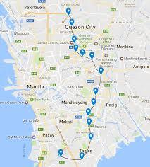 san francisco quezon map jica mega manila subway phase 1 length 25 km 13 stations page