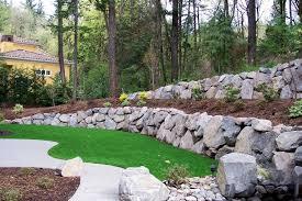 Garden Rock Wall Cascade Landscape And Design Cascadelandscapedesign Ideas