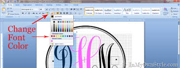 Initial Monogram Fonts How To Create A Monogram Using Microsoft Word In My Own Style