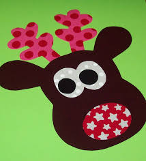 fabric applique template pattern only zainey reindeer new
