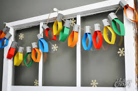 paper christmas lights are a too cute diy all created