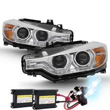 bmw headlights 3 series hid xenon 12 15 bmw 3 series f30 halo led drl projector
