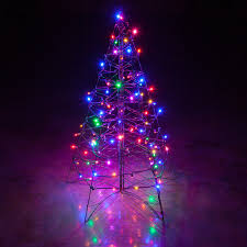 creative ideas lighted outdoor tree pre lit 6 fold flat