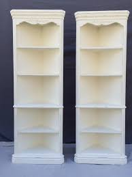 Shabby Chic Corner Cabinet by Corner Cabinets Painted White With Rose Appliques